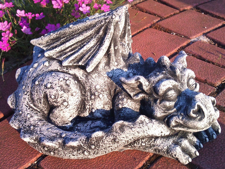 großer schlafender drache - gartendekoparadies.de, Garten ideen